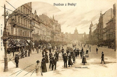 Old Pictures Prague Wenceslas Square